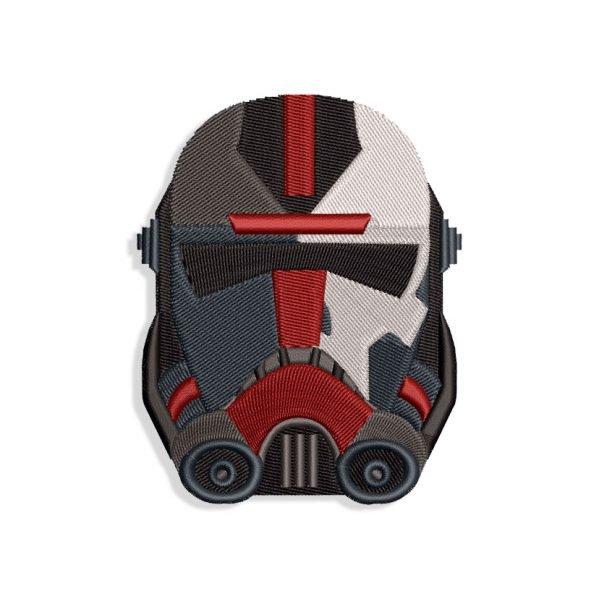 The Bad Batch Hunter Helmet Embroidery design