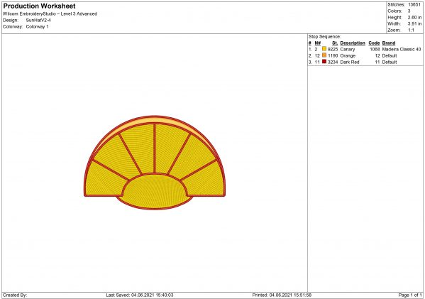 Sun Hat Embroidery design
