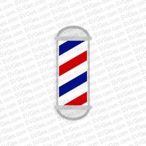 Barber Pole SVG and PNG file