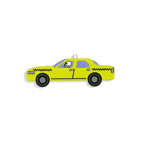 Halloween Taxi Embroidery design