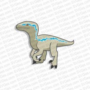 Velociraptor SVG and PNG file