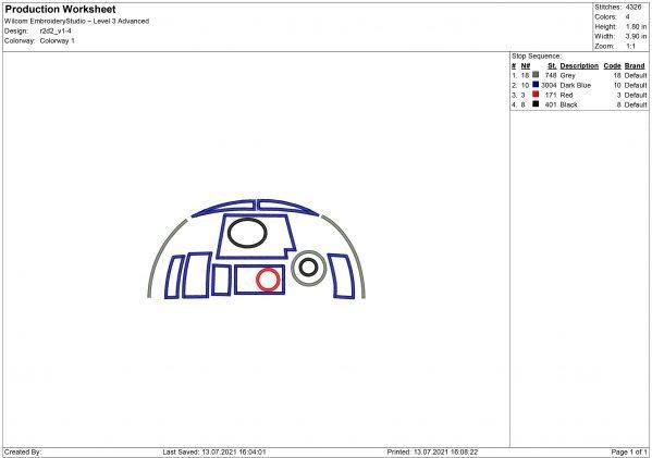 Robot Face Embroidery design