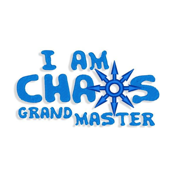 Chaos Embroidery design