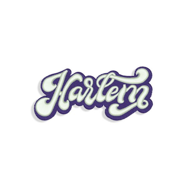 Harlem 3D Puff Embroidery design