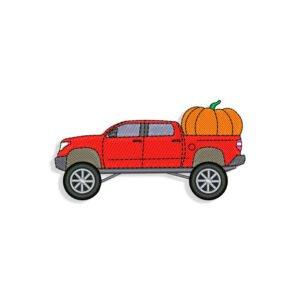 Halloween Pickup Truck Embroidery design