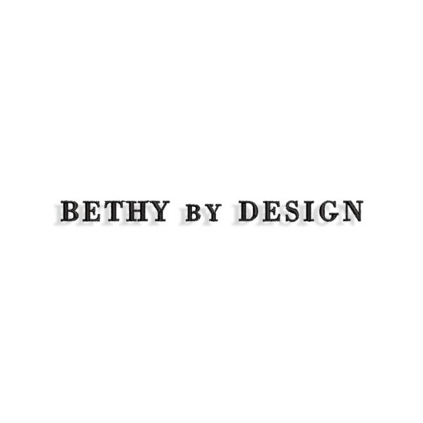 Bethy by Design Embroidery design