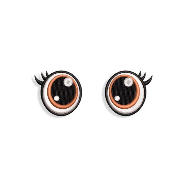 Eyes with Eyelashes Embroidery design