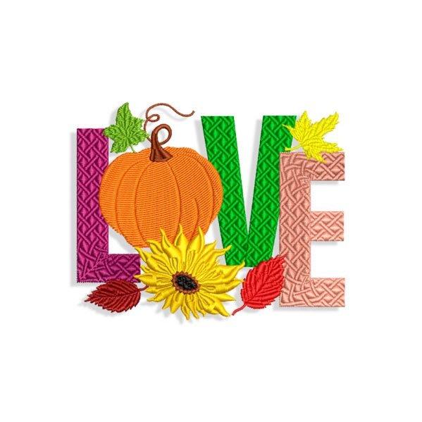 Halloween Love Embroidery design
