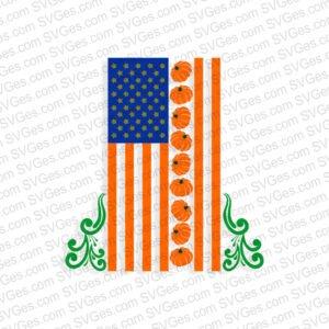 Happy Halloween Flag SVG files