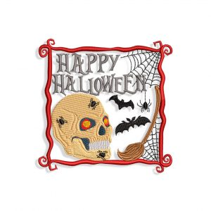 Halloween Scull Embroidery design