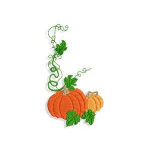 Halloween Pumpkin Frame Embroidery design files
