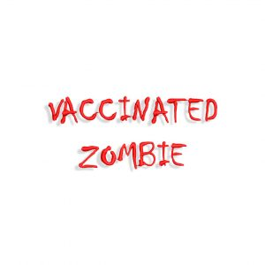 Vaccinated Zombie Embroidery design