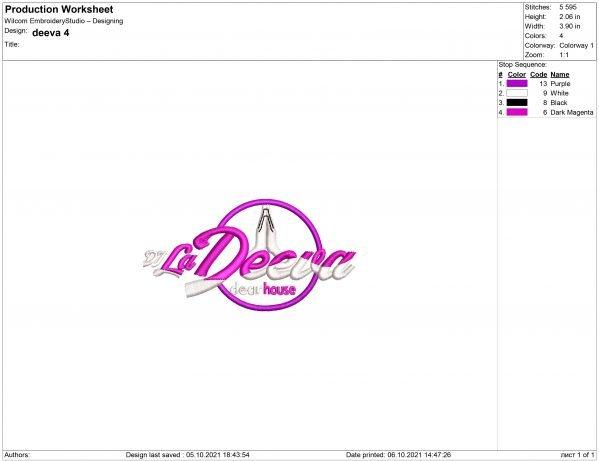 Dj La Deeva Embroidery design files